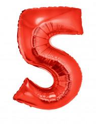 Riesiger Folienballon Ziffer 5 102 cm