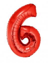 Riesiger Folienballon Ziffer 6 102 cm