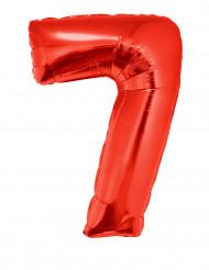 Riesiger Folienballon Ziffer 7 102 cm