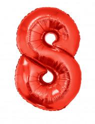 Riesiger Folienballon Ziffer 8 102 cm