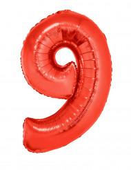 Riesiger Folienballon Ziffer 9 102 cm