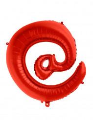 Riesiger Folienballon rot Symbol @ 70 cm