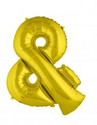 Riesiger Folienballon gold & 80 cm