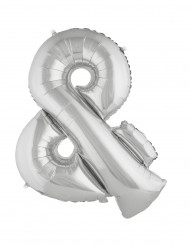 Riesiger Folienballon silber & 80 cm