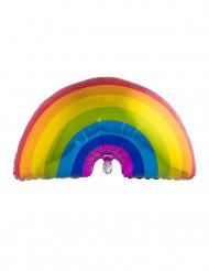 Regenbogen Aluminium-Luftballon bunt