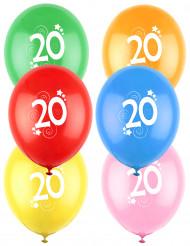 12 Luftballons Zahl 30 bunt
