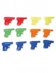 Wasserpistolen-Set Spielzeug für Kinder 12 Stück bunt 6cm
