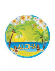 8er-Set Aloha-Pappteller 23 cm