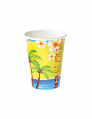 Aloha-Trinkbecher Hawaii-Partyzubehör 8 Stück bunt 250ml