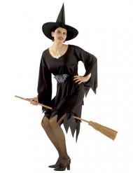 Magierin-Zauberin Damenkostüm Halloween schwarz