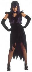 Rebellische Hexe Halloween-Damenkostüm schwarz