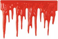 Halloween-Wanddekoration - Blutspur - rot