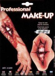 Offener Knochenbruch Tattoo Wunde Halloween