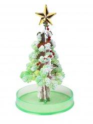 Wachsender Weihnachtsbaum grün-Silber 15cm