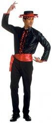 Flamenco Tänzer Kostüm für Herren schwarz-rot