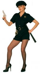 Polizistin-Damenkostüm Uniform blau