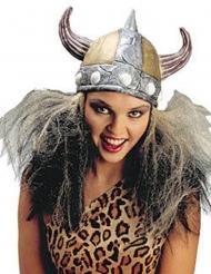 Wikingerhelm Frau mit silbernen Haaren