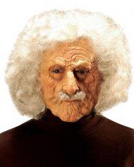 Maske Wissenschaftler mit silbernen Haaren und grauem Schnurrbart