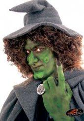 Hexennase Kostümzubehör Make-up mit Hautkleber