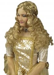 Mittelalterliche geflochtene lange Perücke Damen