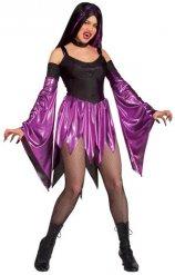 Wilde Gothic-Vampirin Damenkostüm schwarz-lila