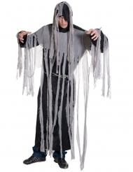 Gespenstisches Fetzenkostüm Geist Halloween schwarz-grau