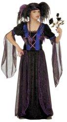 Düsteres Gothic-Vampirkostüm für Kinder schwarz-blau
