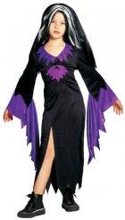 Magisches Hexen-Kostüm für Kinder Halloween schwarz-lila