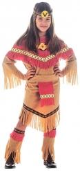 Indianner Kostüm für Mädchen in Rot