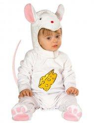 Kleine Maus Babykostüm weiss-rosa