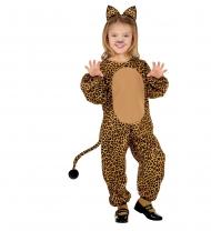 Leoparden-Tierkostüm für Kinder braun-schwarz
