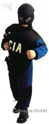 CIA-Uniform für Kinder Polizei-Kostüm schwarz-blau