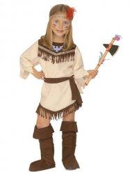 Süßes Indianer-Mädchen Kinderkostüm beige-braun