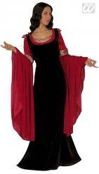 Mittelalterliches Damenkostüm rot-schwarz