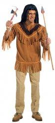 Indianer Shirt mit Fransen braun für Herren
