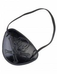Piraten Augenklappe schwarz Erwachsene 7x5cm
