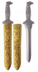 Antikes Gladiatoren-Set Schwert Kostümzubehör grau-gold