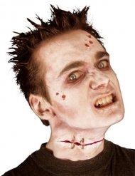 Geklammerte Platzwunde Zombie Halloween
