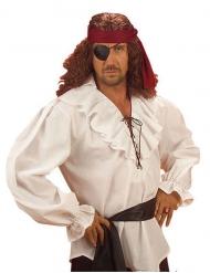 Weiß Piratenhemd für Mann