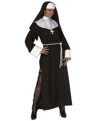 Verführerisches Nonnen-Damenkostüm schwarz-weiss
