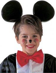 Stirnband schwarz Mausohr Kinder