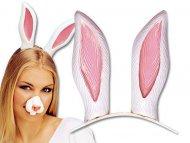 Weißes Stirnband Kaninchenohren Erwachsene