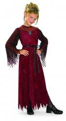 Gothic Vampir Kostüm für Mädchen rot-schwarz