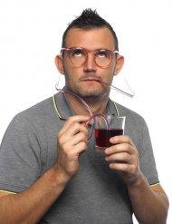 Brille transparent Strohhalme Erwachsene
