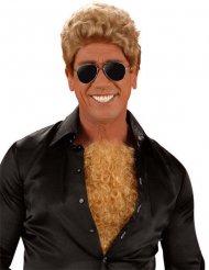 Brusthaar-Toupet blond für Erwachsene