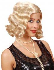 Wellige Perücke 20er Jahre blond