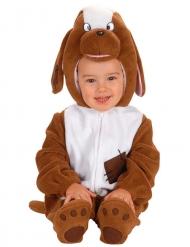 Süsses Hundebaby-Kleinkinderkostüm braun-weiss