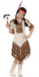 Indianerin Kostüm beige Mädchen