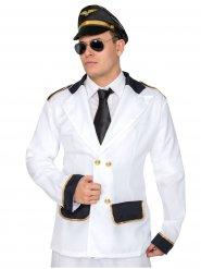 Kapitän-Uniform Kostümzubehör für Herren weiss-schwarz