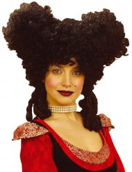 Schwarze Perücke Renaissance Damen